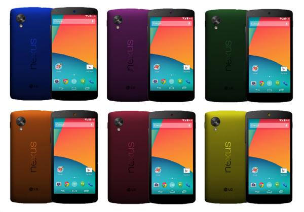 Корпус Nexus 5: все цвета радуги