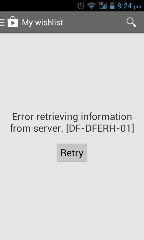 ошибка получения данных с сервера Google Play - фото 7