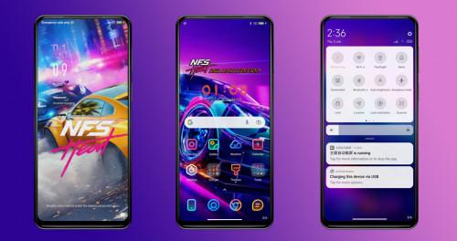 Идеальная тема для смартфонов Xiaomi, Redmi и POCO с неоновым оформлением
